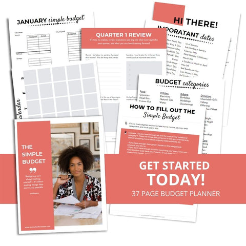 simple budget printable budget planner