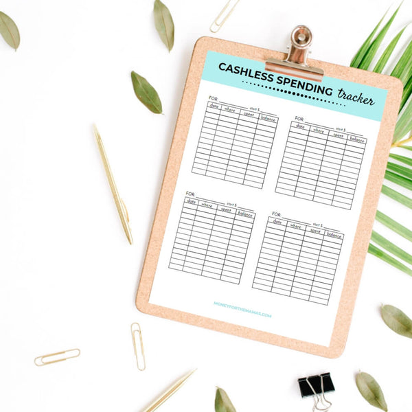 printable cashless spending tracker