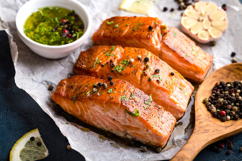 grilled provincial salmon