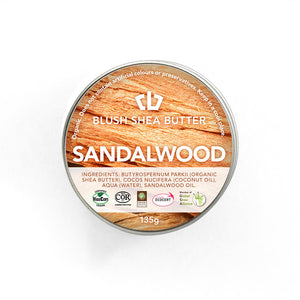 Blush Shea Butter Sandalwood Balm | Rejuvenating Body Cream