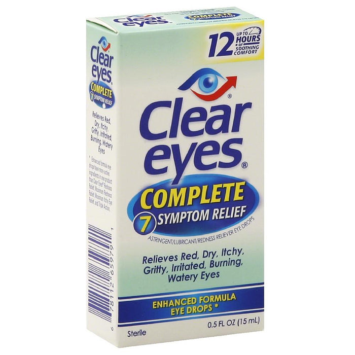 Clear Eyes Complete 7 Symptom Relief Eye Drops 0.50 oz