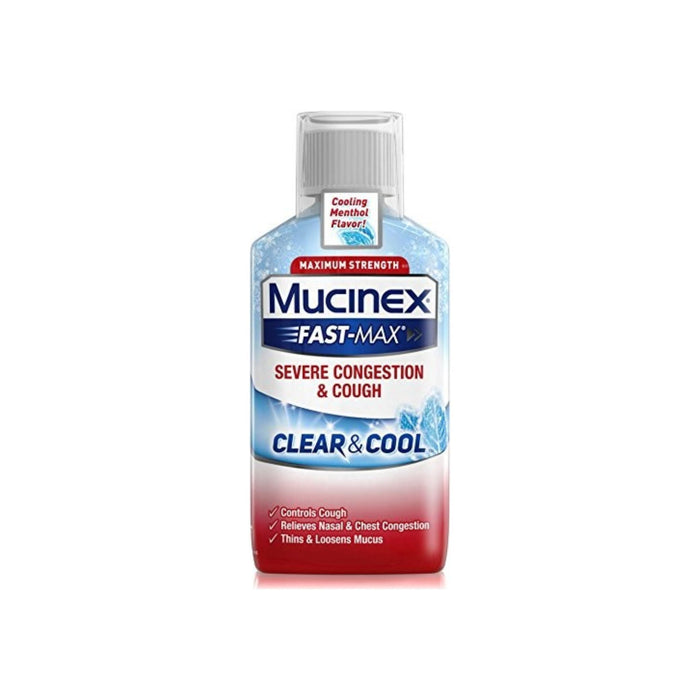 Mucinex Fast-Max Clear & Cool Adult Liquid - Severe Congestion & Cough 6 oz