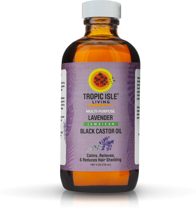 Tropic Isle Living Lavender Jamaican Black Castor Oil, 4 oz