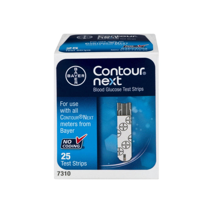 Bayer Contour Next Blood Glucose Test Strips 25 Each