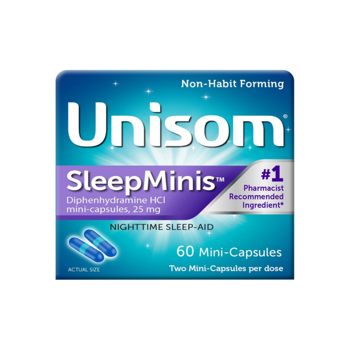 Unisom Sleep Mini's Capsules, 60 ct