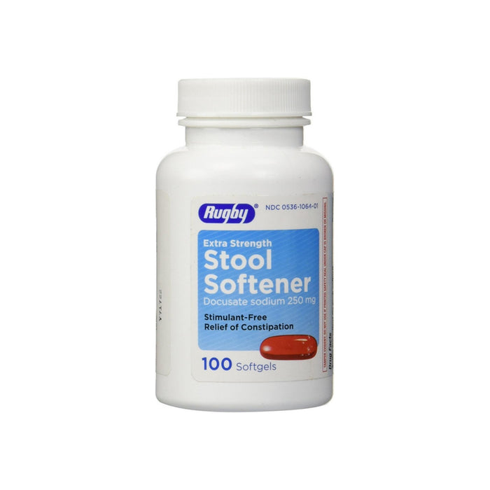 Rugby Stool Softener Docusate Sodium 250mg Soft Gels 100 ea