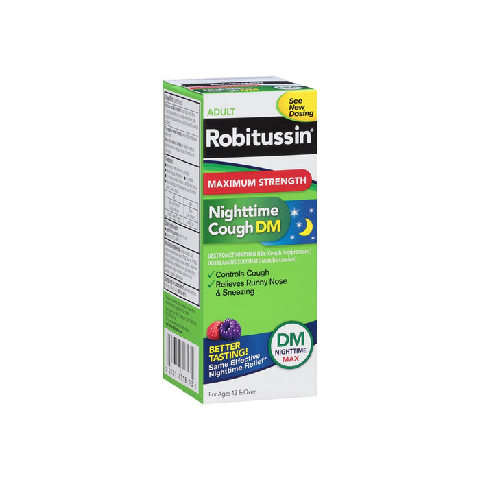 Robitussin Adult Maximum Strength Nighttime Cough DM Max Liquid 8 oz
