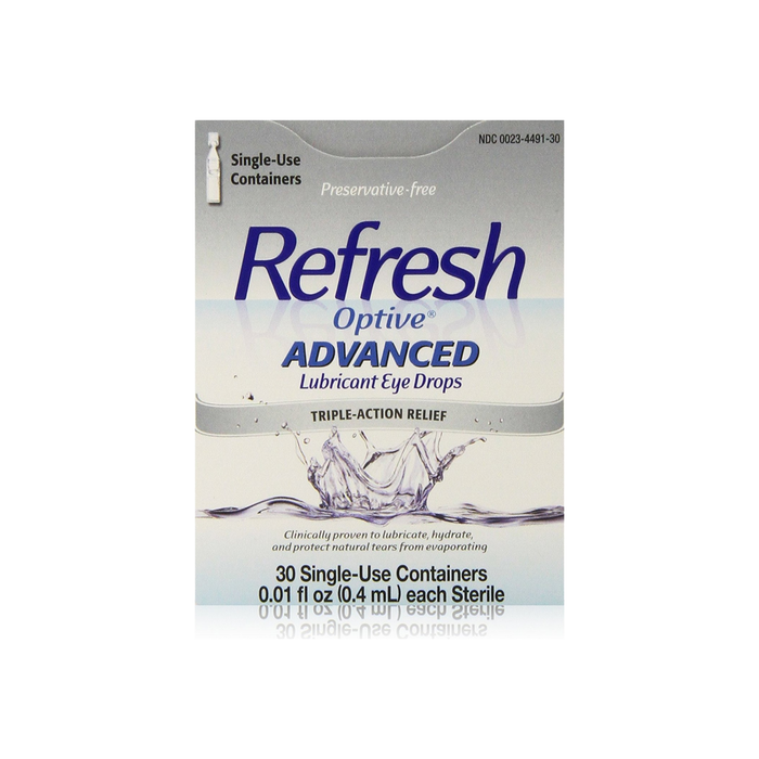 REFRESH Optive Advanced Lubricant Eye Drops Single Use Containers 30 ea