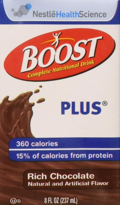 Boost Resource Plus Rich Chocolate Nutritional Drink 8 oz, 27 Count