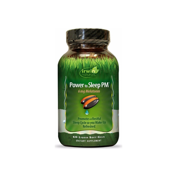 Irwin Naturals Power To Sleep PM Melatonin Supplement 60 ea
