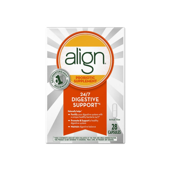 Align Probiotic Supplement 24/7 Digestive Support, 28 Capsules