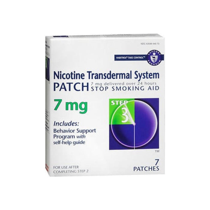 Habitrol Nicotine Transdermal System Patch 7 mg Step 3, 7 ea