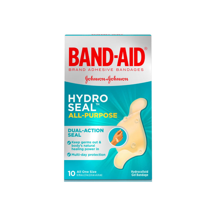 BAND-AID Brand Hydro Seal Waterproof All Purpose Adhesive Bandages, 10 ea