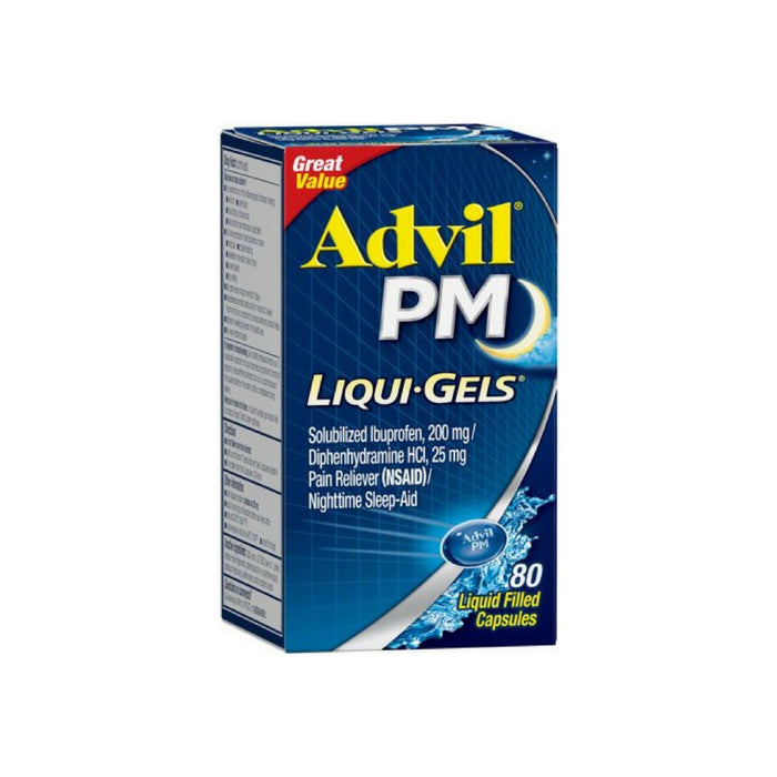 Advil PM Ibuprofen 200 mg Liqui-Gels 80 ea