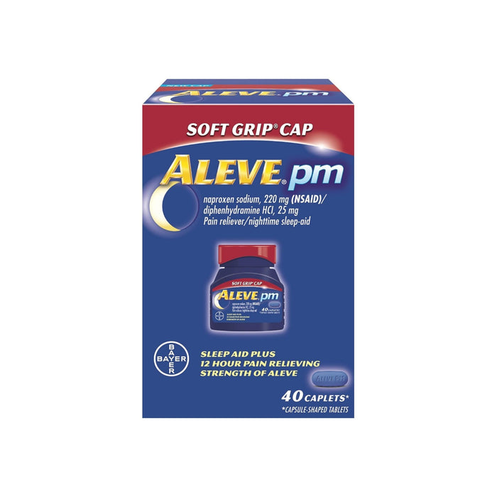 Aleve PM Soft Grip Cap, 220 mg Caplets 40 ea