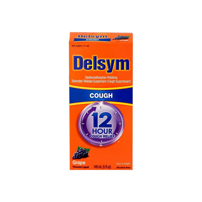 Delsym Adult Cough Suppressant Liquid, Grape Flavor, 5 oz
