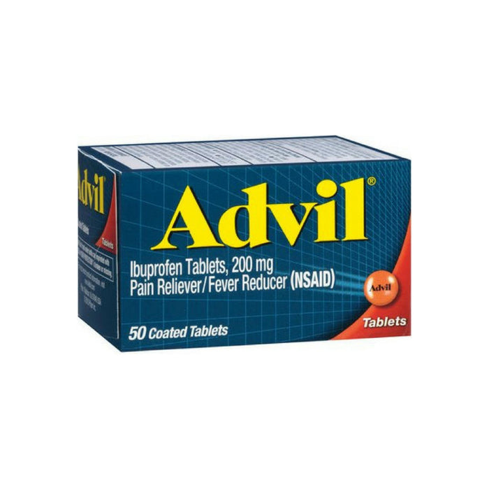 Advil Pain Reliever/Fever Reducer 200 mg Coated Tablets 50 ea