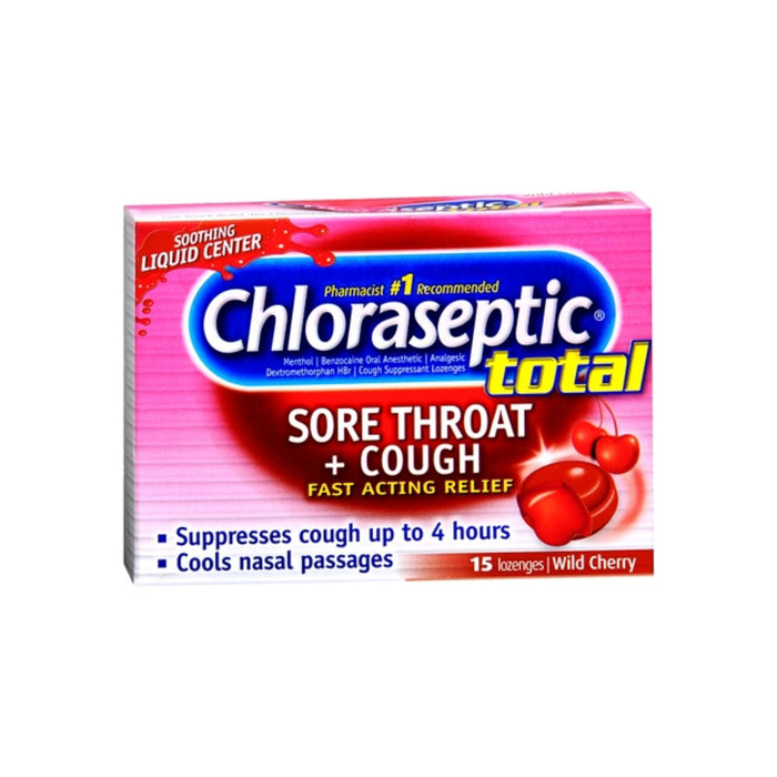 Chloraseptic Total Multi-Symptom Relief Lozenges Wild Cherry 15 ea
