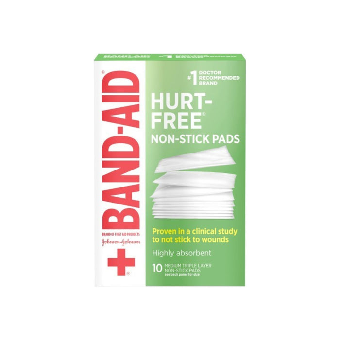 BAND-AID First Aid Non-Stick Pads, Medium, 2 in x 3 in, 10 ea