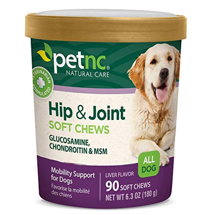 PetNC Natural Care Hip and Joint Soft Chews for Dogs, 90 Count