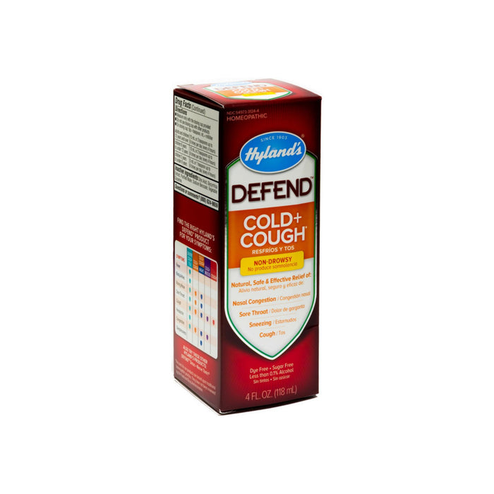Hyland's Defend Cold + Cough Non-Drowsy Relief Liquid 4 oz