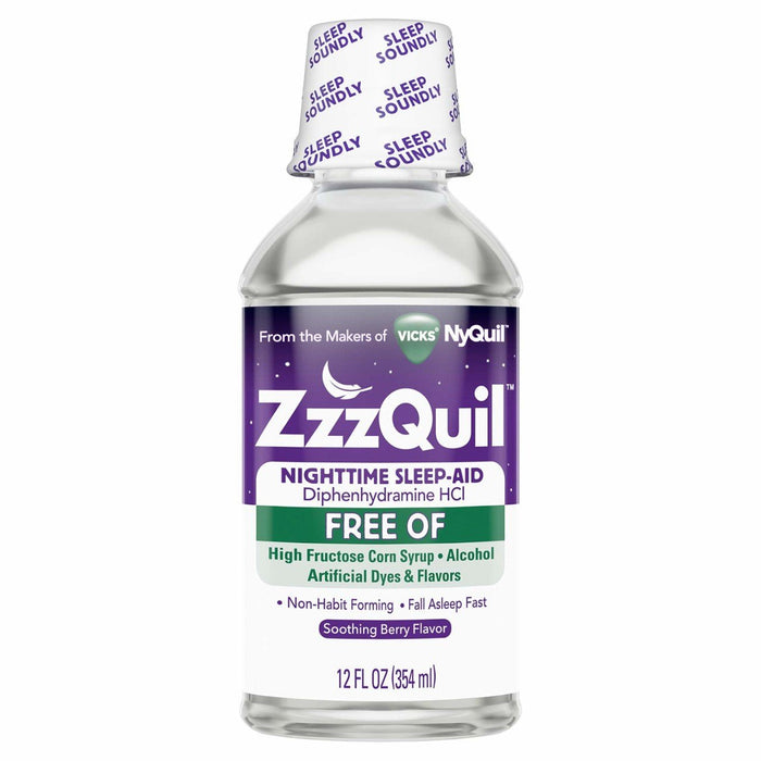 ZzzQuil Alcohol Free Nighttime Sleep Aid, Soothing Mango Berry 12 oz