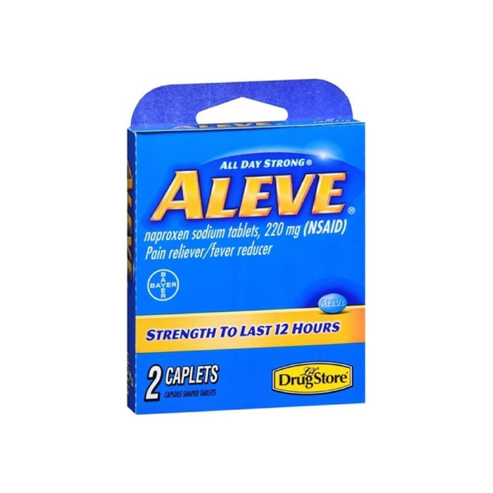 Aleve Lil Drug Store Pain Reliever/ Fever Reducer Caplets 2 ea