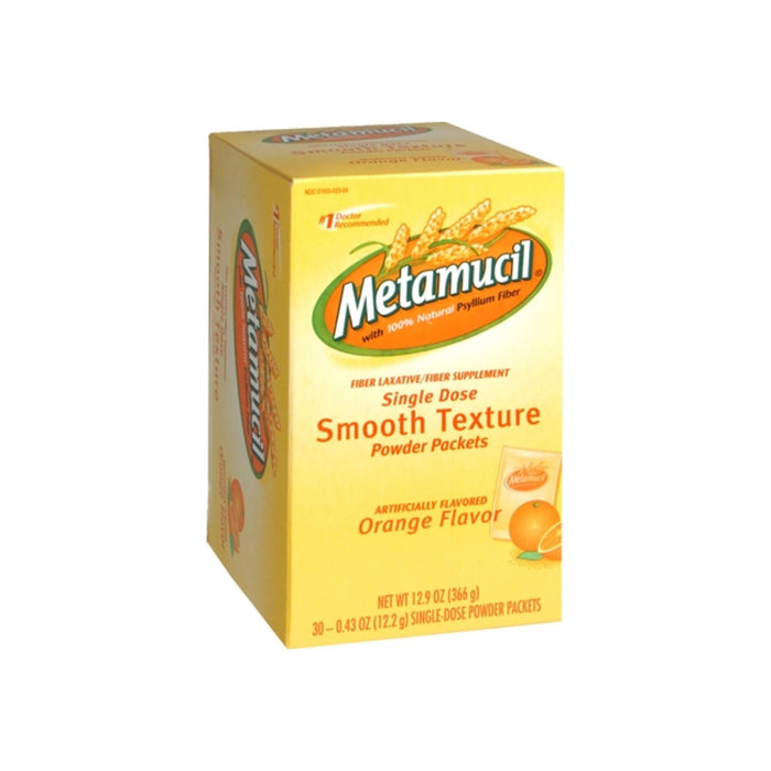 Metamucil Smooth Texture Orange Single Dose Packets 30 Each