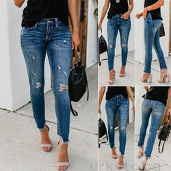 Stretch Ripped Distressed Jeans