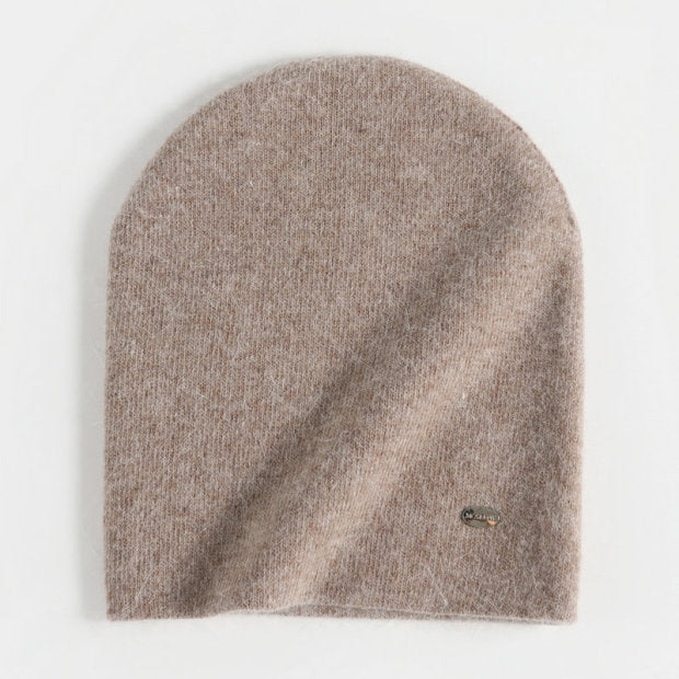 Female Rabbit Hair Winter Beanie Wool Hat