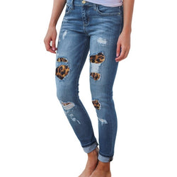 Patchwork Ribbed Jeans