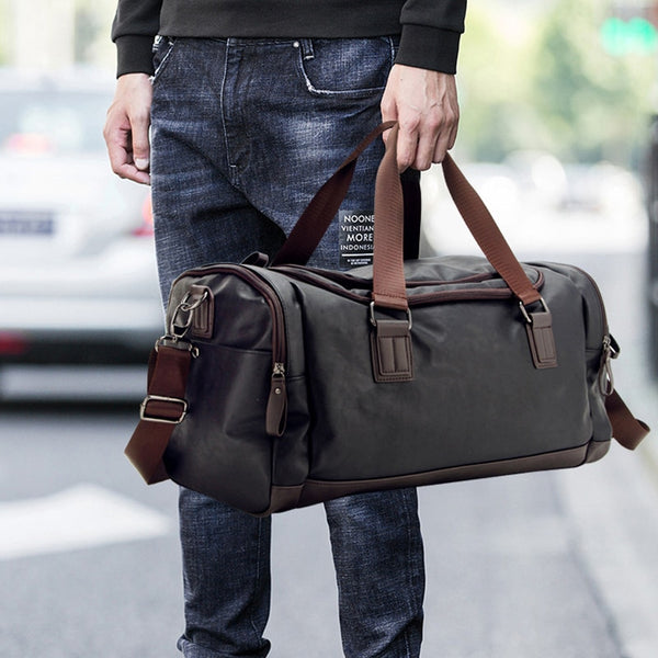 New Casual PU Leather Travel Duffel Bag