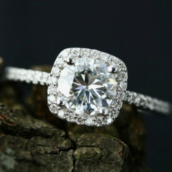 Women AAA White Zircon Cubic elegant rings