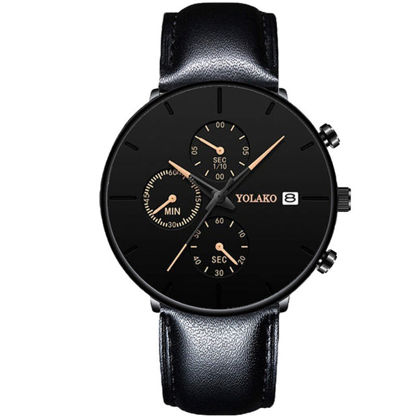 Men's Fashion Stainless Steel Business Casual Watch