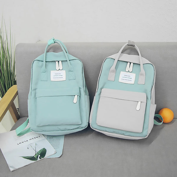 Fashion Women Waterproof Canvas Travel Backpack