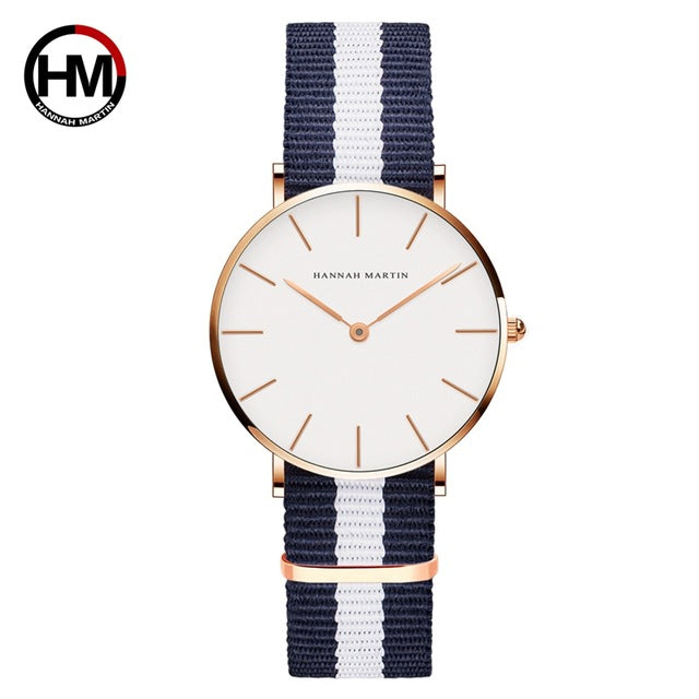 Women Fashion Leather Strap Ladies Wrist Watch