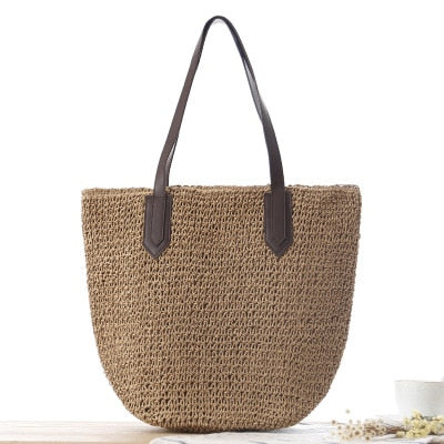 Round Straw Bags for Women