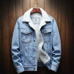 Light Blue Winter Jean -Jacket