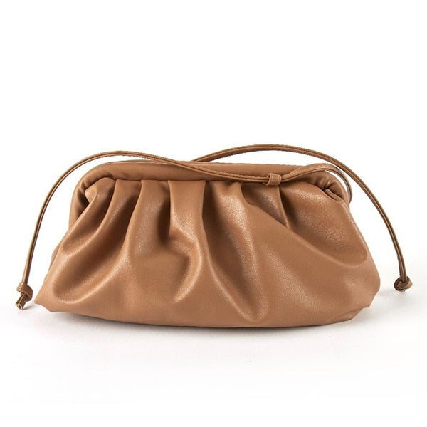 Women Soft Leather Slant Dumpling Bag