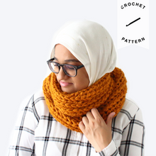 Load image into Gallery viewer, Claire Infinity Scarf - Crochet Pattern