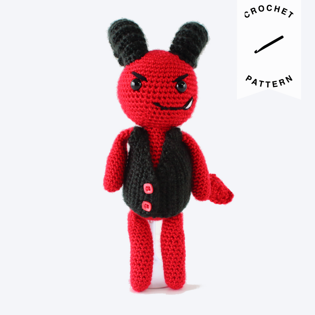 Damian the Devil - Crochet Pattern