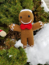 Load image into Gallery viewer, Ronald the Gingerbread Man - Crochet Pattern