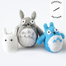 Load image into Gallery viewer, Totoro Plushie Set - Crochet Pattern