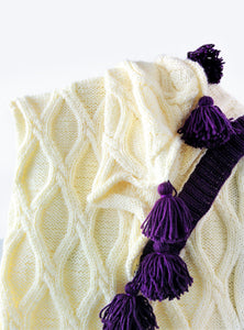 Twisted Cables Throw - Knitting Pattern