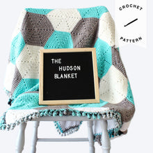Load image into Gallery viewer, Hudson Baby Blanket - Crochet Pattern