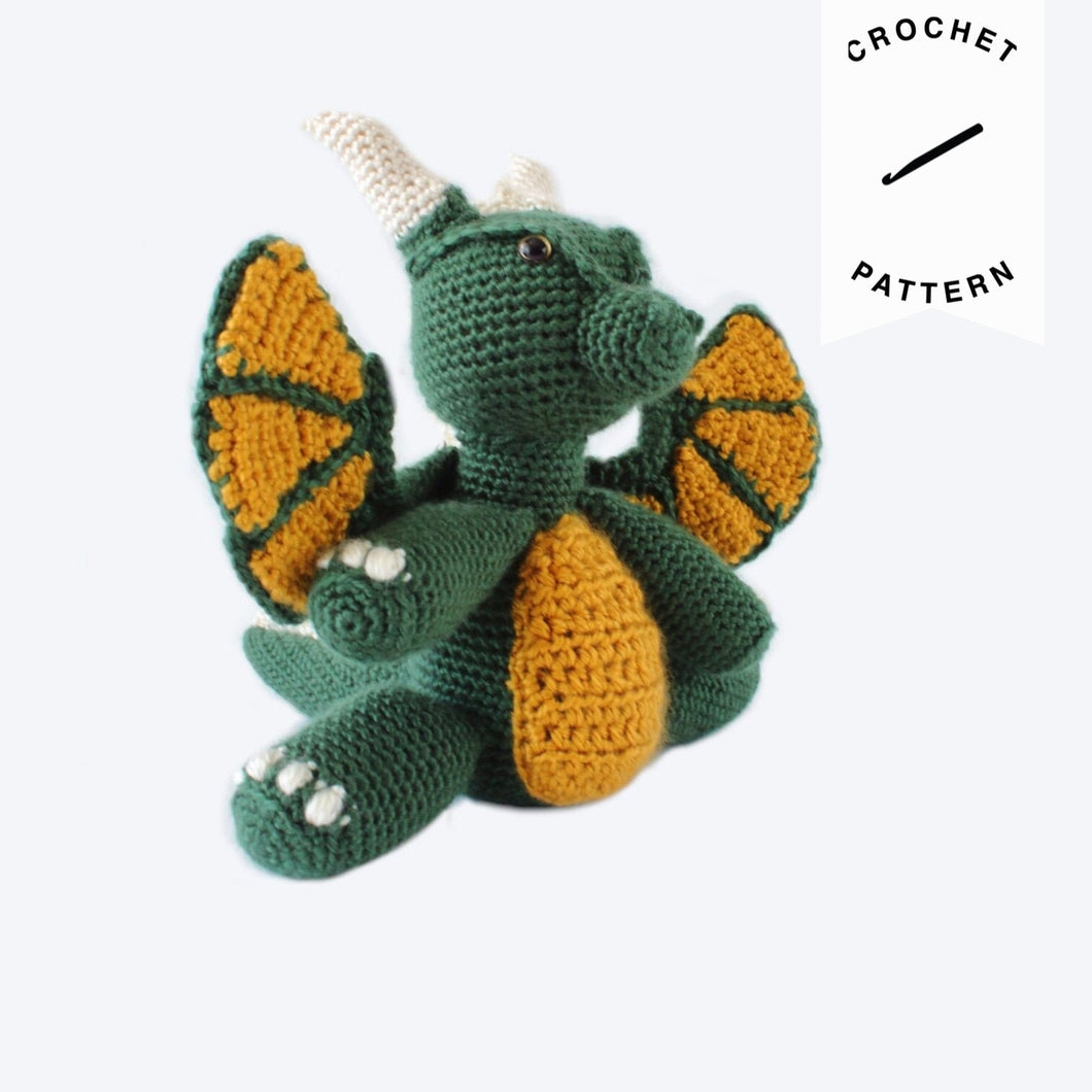 Firnen Dragon Plushie - Crochet Pattern