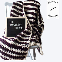 Load image into Gallery viewer, The Mulberry Throw - Crochet Pattern