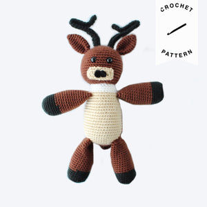 Comet the Reindeer Plush - Crochet Pattern