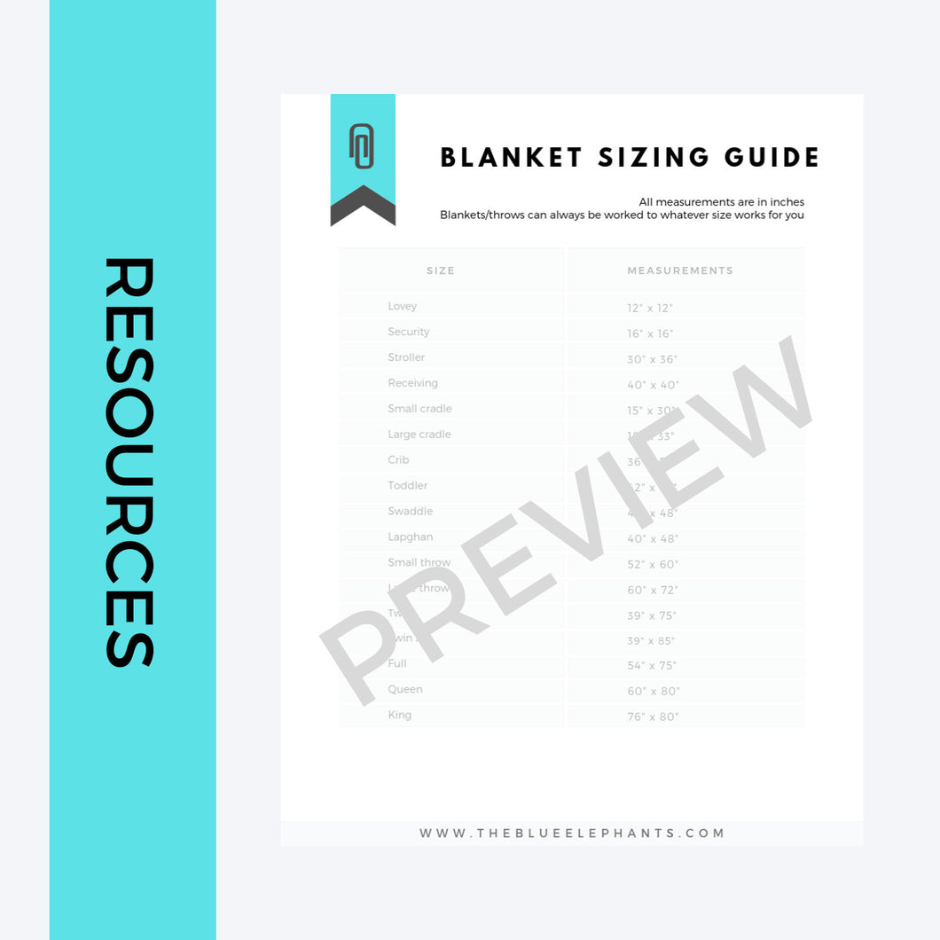 Blanket Sizing Guide