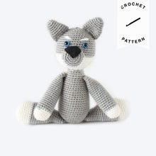 Load image into Gallery viewer, Remus the Wolf Pup - Crochet Pattern